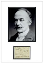 Thomas Hardy Autograph Signed Note Display